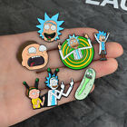 Women Men Enamel Cartoon Rick And Morty Middle Finger Brooch Pins Badge Jewelry image