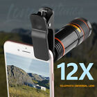 12x Optical Zoom Clip on Camera Lens Phone Telescope For Universal Cell Phones