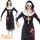Ladies Zombie Nun Costume Halloween Sister Scary Mary Womens Fancy Dress Outfit