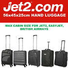 JET 2 Easyjet 56x45x25 MAX LARGE CABIN HAND CARRY LUGGAGE SUITCASE TRAVEL BAGS