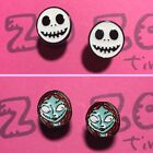Jack & Sally Metal Stud Earrings