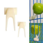 2Pcs Bird Parrots Fruit Fork Pet Supplies Plastic Food Holder Feeding On Cage HI