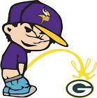 "Minnesota Vikings Piss On Green Bay Packers NFL Decal - You Choose Size 3.75-28"" on eBay"