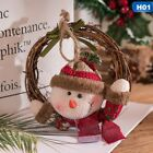 Merry Christmas Rattan Lovely Wreath Garland for Wall Window Christmas Tree