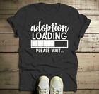 Men's Adoption T Shirt Cute Adoption Loading Parent Tee Gift Idea Adoptive Dad P