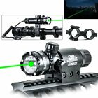 Tactical Green Laser Sight Rifle Dot Scope+Switch+Picatinny Rail+Barrel MountsLights & Lasers - 106974