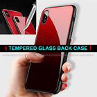 REAL GLASS Case For iPhone XS MAX XR XS Shockproof Silicone Protective Cover