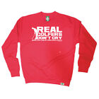 Golf Sweatshirt Funny Novelty Jumper Top - Real Golfers Dont Cry When They Li