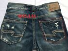 New Silver Jeans Men's ZAC Relaxed Fit Straight Leg Mid-Rise Stonewashed 81011A