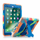 For New iPad 9.7 inch 5/6th Generation 2017/2018 Rugged Rubber Case Cover Stand