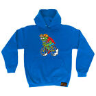 Cycling Hoodie Hoody Funny Novelty hooded Top - Weirdo Cyclist