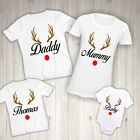 Personalised Christmas T-shirt - Matching Family Clothing Rudolph Children Names