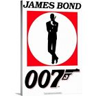 Premium Thick-Wrap Canvas Wall Art entitled James Bond Collection () $69.29 USD on eBay