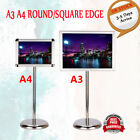 Adjustable A3&A4 Display Floor Stand Menu Poster Holder Sign Advertisement Board
