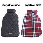 Внешний вид - Windproof Winter Dog Coat Jacket Plaid Bulldog Pet Clothes Warm Apparel XS-XXXL