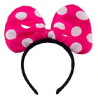 MICKEY & MINNIE MOUSE FLASHING HEADBAND BOWS LIGHT UP LED ACCESSORIES
