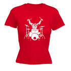 Music Band Tops T-Shirt Funny Novelty Womens tee TShirt - Gorilla Drummer