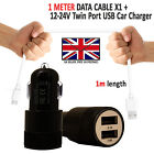 In Car Fast Dual Charger Micro USB Charging Cable For Xiaomi Redmi Note 6 Pro