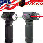 US Combo Green Laser Sight/LED White Light Vertical Foregrip Hand Grip 20mm Rail