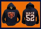 CHICAGO BEARS Hoodie NAVY BLUE Hooded Sweatshirt  KHALIL MACK 52