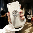 Girl Bling Diamond Airbag Stand Strap Shell Case Cover for iPhone XS Max 8 7Plus