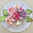 Внешний вид - 24 pcs Shabby Chic Mixed Mulberry paper Flowers Embellishment, Scrapbooking