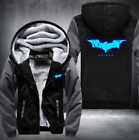 Batman warm Thicken Hoodie Jacket Cosplay Sweater fleece coat clothing Luminous