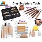 Clay Sculpting Pottery Set Tool Ceramic Carving Wax Shaper Polymer Molding Craft image