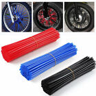 72 x Universal Wheel Spoke Wraps Motorcycle Cover Pipe Skins For Kawasaki Suzuki