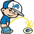 Detroit Lions Piss On Green Bay Packers NFL Vinyl Decal  CHOOSE SIZES $8.99 USD on eBay