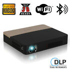 Mini 3D Smart Android DLP Projector Wifi Bluetooth Home Theater HD 1080p HDMI