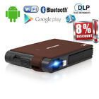 Mini Smart Android DLP 3D Projector Wifi Bluetooth Home Theater HD 1080p HDMI