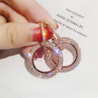 Внешний вид - Fashion Luxury Round Earrings Women Crystal Geometric Hoop Earrings Jewelry Gift
