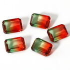 6 CT 10 * 14 MM Watermelon Natural Tourmaline Emerald Cut Loose Gems Wholesale