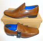 Mens Leather Tan Brown Slip On Casual Formal Shoes New RRP 45 UK Sizes 7-11