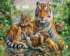 5D DIY Diamond Painting Tiger, Full Cover, Square Tile #15