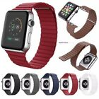 Genuine Leather Loop Magnetic Loop Watch Band For Apple iWatch 4 3 2 1 40mm 44mm