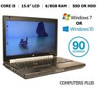 HP Elitebook 8560w 15.6  Mobile Workstation Laptop Core i5, 6/8Gb, HDD or SSD