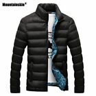 Men's Packable Ultralight High Collar Jacket Winter Hooded Thick Outerwear Coat