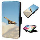 Fast Concord Plane - Flip Phone Case Wallet Smart Cover Fits Iphone & Samsung