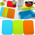 Colorful Anti-skid Rectangle Silicone Dish Drying Heat Resistant Mat Pot Holder