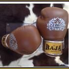 RAJA MODEL 2 BROWN MARTIAL ARTS SPORTING MUAY THAI BOXING LEATHER GLOVES