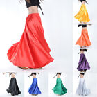 USA Belly Dance Costumes Satin Skirt Dress Women Dancewear Performance 14Colors