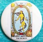 The World Tarot card button badge pin horoscope occult psychic astrology reading