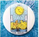 The Moon Tarot Card button badge pin horoscope occult psychic astrology reading
