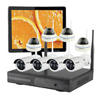Home CCTV Wireless Security Camera System night vision with Hard Drive Monitor