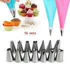 16PCS Converter Cookie Decorating Molds Flower Decor Cake Dessert Kitchen Bakery