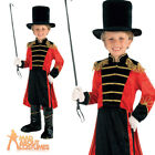 Kids Greatest Showman Costume Boys Ringmaster Fancy Dress Circus Tailcoat Hat