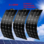 100W 200W 300W Flexible Solar Panel for RV Car Boat Roof 12V/24V Battery Charger
