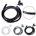 Cable Hide Wrap Tube 1.5m Organizer Band Management Wire Spiral Flexible Cord